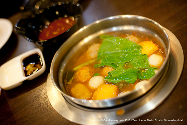 Food selections include fish ball, sliced beef and chicken and more