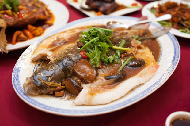 Penang Fisherman Wharf - steam jelawat fish with fisherman style