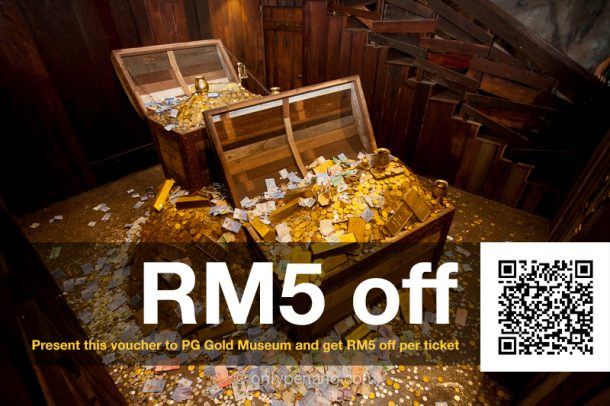 Get RM5 off on Penang Gold Museum ticket, exclusive for Onlypenang fans