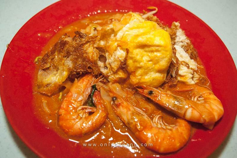 Butterworth Malay Char Koay Teow with big prawn